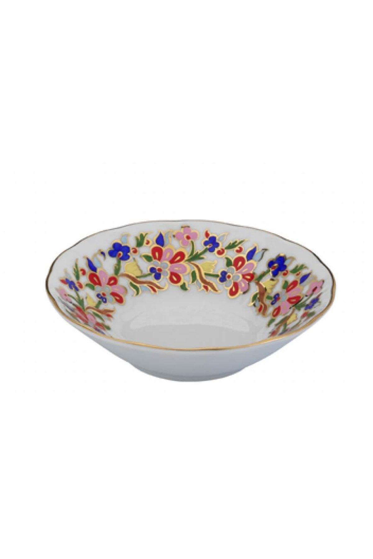 KÜTAHYA PORSELEN - Kütahya Porselen Acem El Yapımı Çay Tabağı 456 Desen