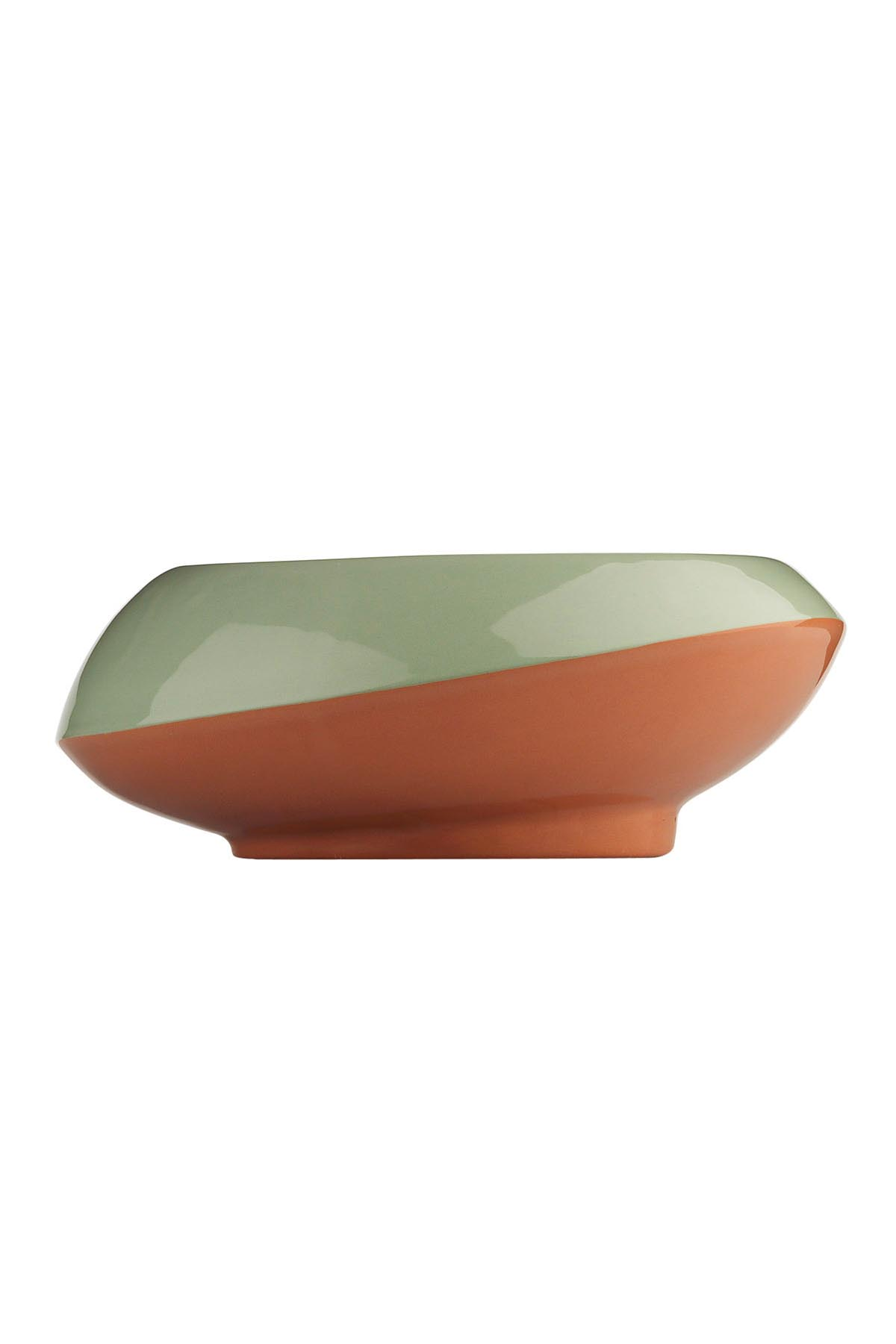 Kütahya Porselen - Aura 16 Cm Kase 3 Renk Kırmızı-Yeşil-Siyah
