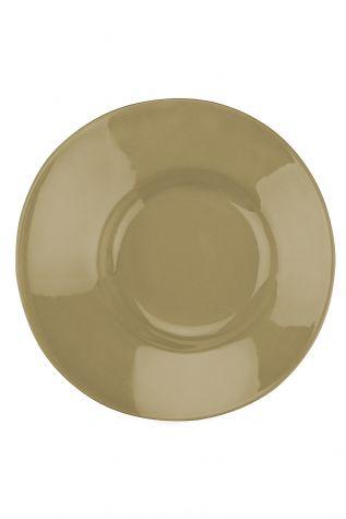 Kütahya Porselen - Aura 20 cm Çukur Tabak Bej