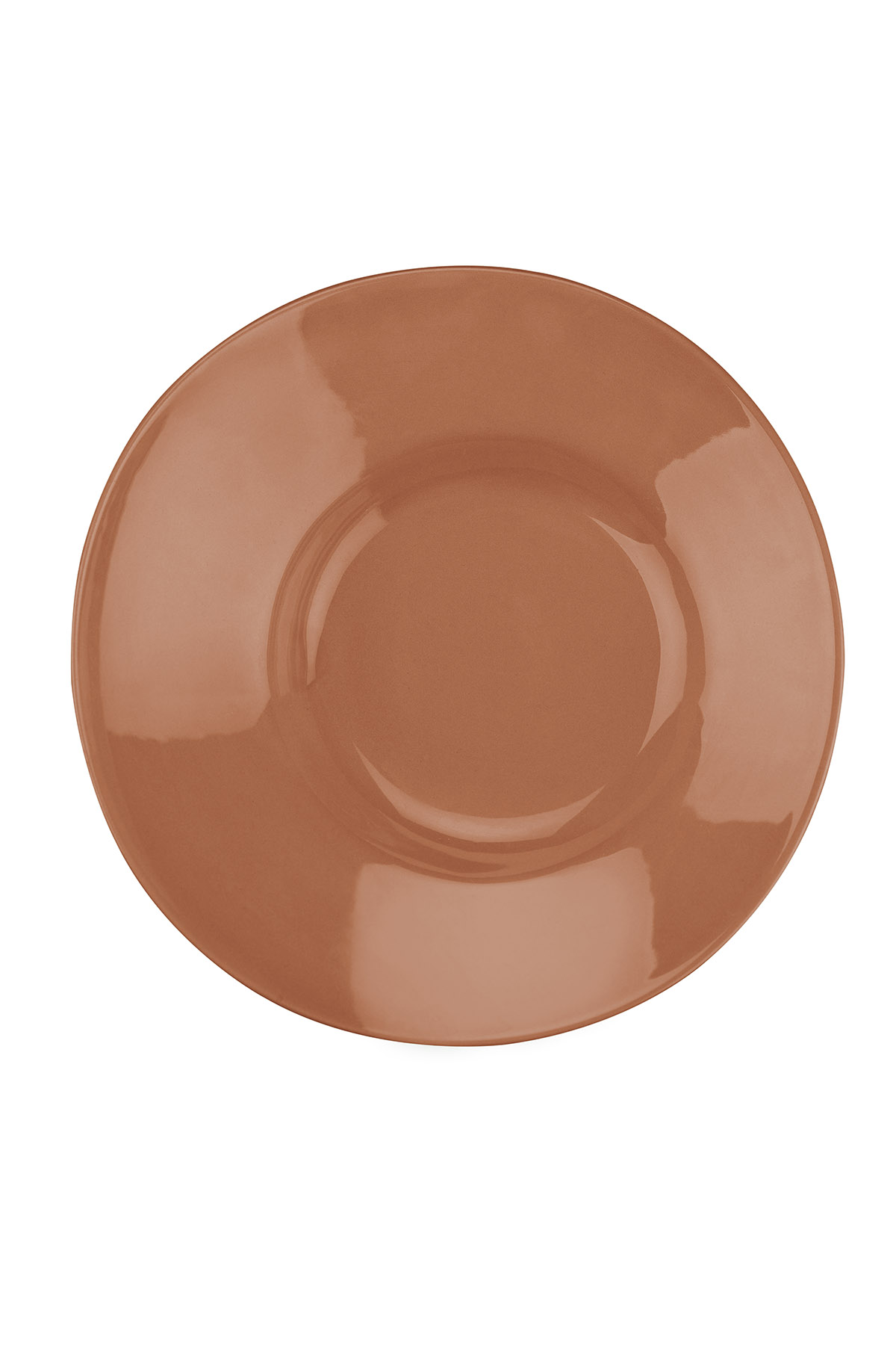 Kütahya Porselen - Aura 20 cm Çukur Tabak Kirmizi