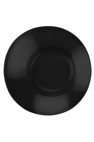 Kütahya Porselen - Aura 20 cm Çukur Tabak Siyah