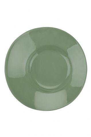 Kütahya Porselen - Aura 20 cm Çukur Tabak Yesil