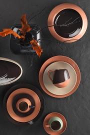 Aura 20 Cm Düz Tabak Siyah - Thumbnail
