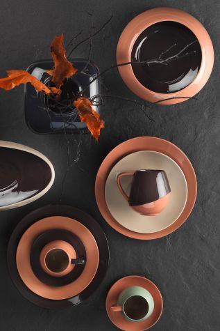 Aura 20 cm Düz Tabak Siyah - Thumbnail (2)