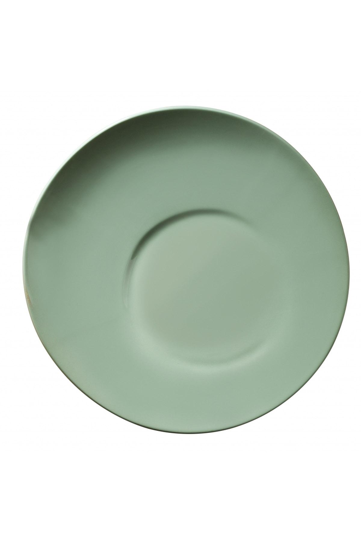Aura 20 cm Düz Tabak Yeşil