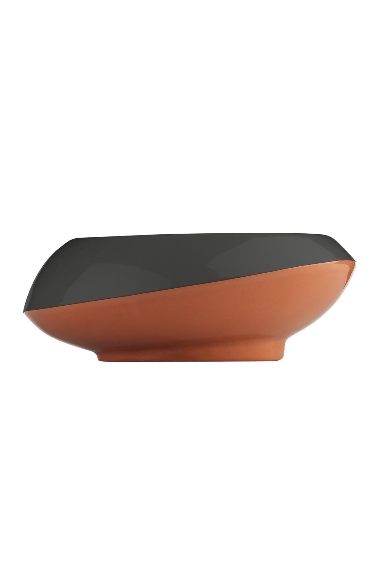 Kütahya Porselen - Aura 23 cm Kase 3 Renkli Kırmızı/Siyah/Yeşil