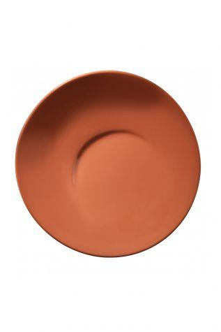 Kütahya Porselen - Aura 25 cm Düz Tabak Kırmızı
