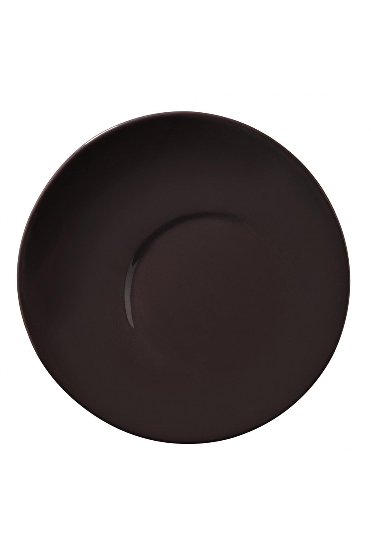 Kütahya Porselen - Aura 25 Cm Düz Tabak Siyah