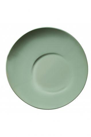 Kütahya Porselen - Aura 25 cm Düz Tabak Yeşil