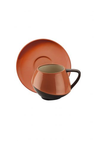 Aura Çay Takımı Siyah-Krem-Bej-Kırmızı - Thumbnail (1)