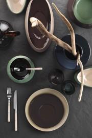 Aura Çay Takımı Siyah-Krem-Bej-Kırmızı - Thumbnail