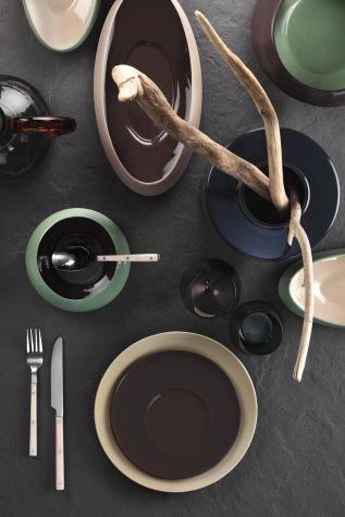 Aura Çay Takımı Siyah-Krem-Bej-Kırmızı - Thumbnail (3)