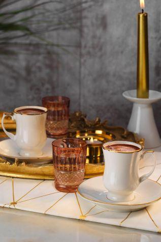 Artebianco - Arte Bianco Muna Kahve Takımı