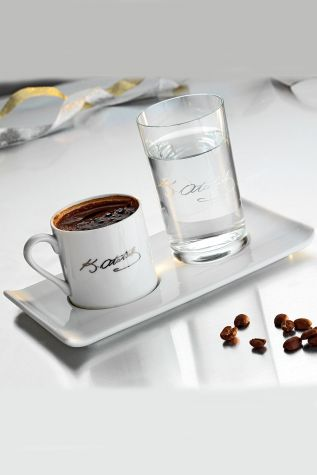 Kütahya Porselen - Kütahya Porselen Atatürk İmzalı Kahve Fincan Seti