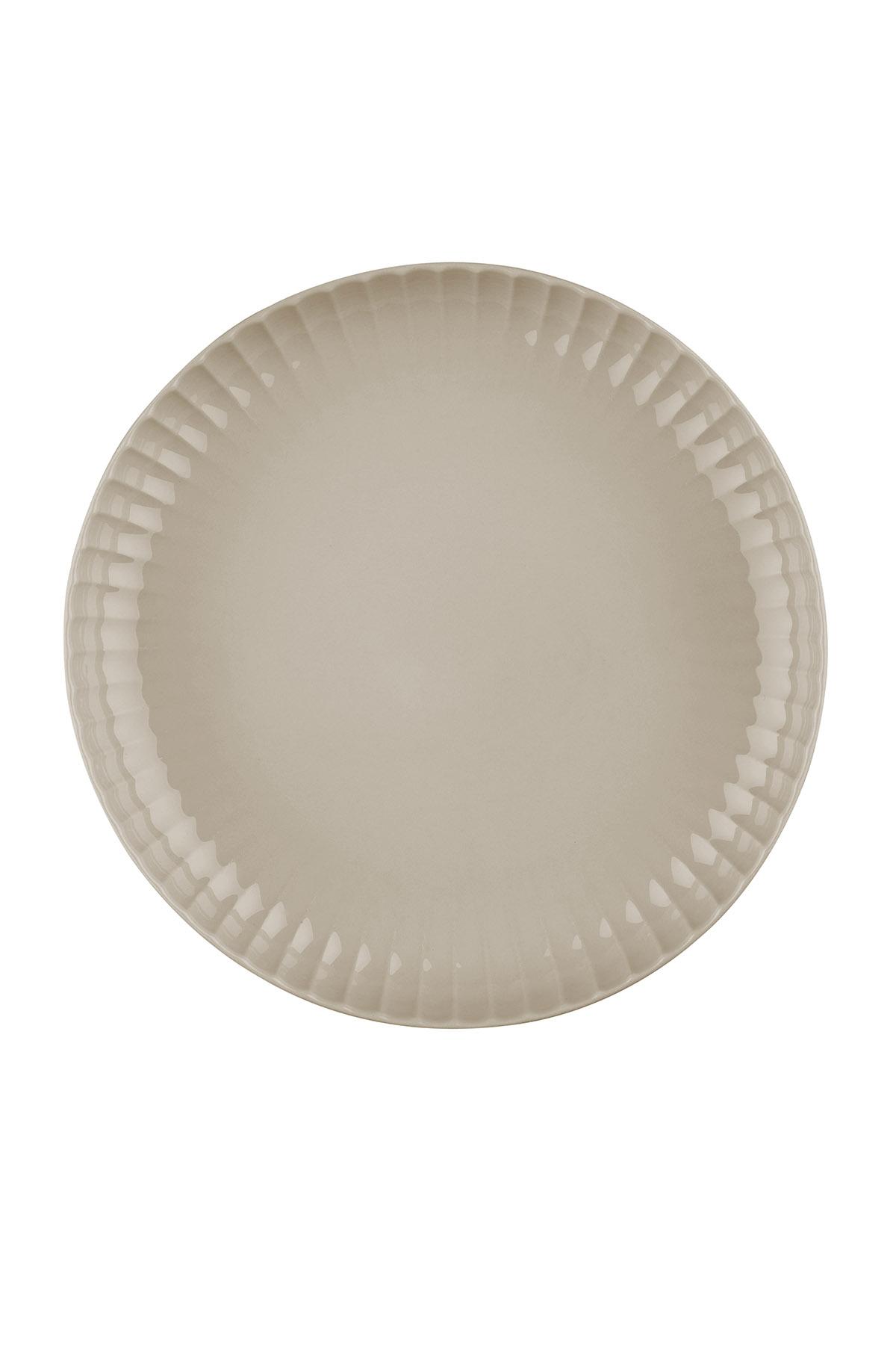 Kütahya Porselen - Crest 20 cm Çukur Tabak Bej