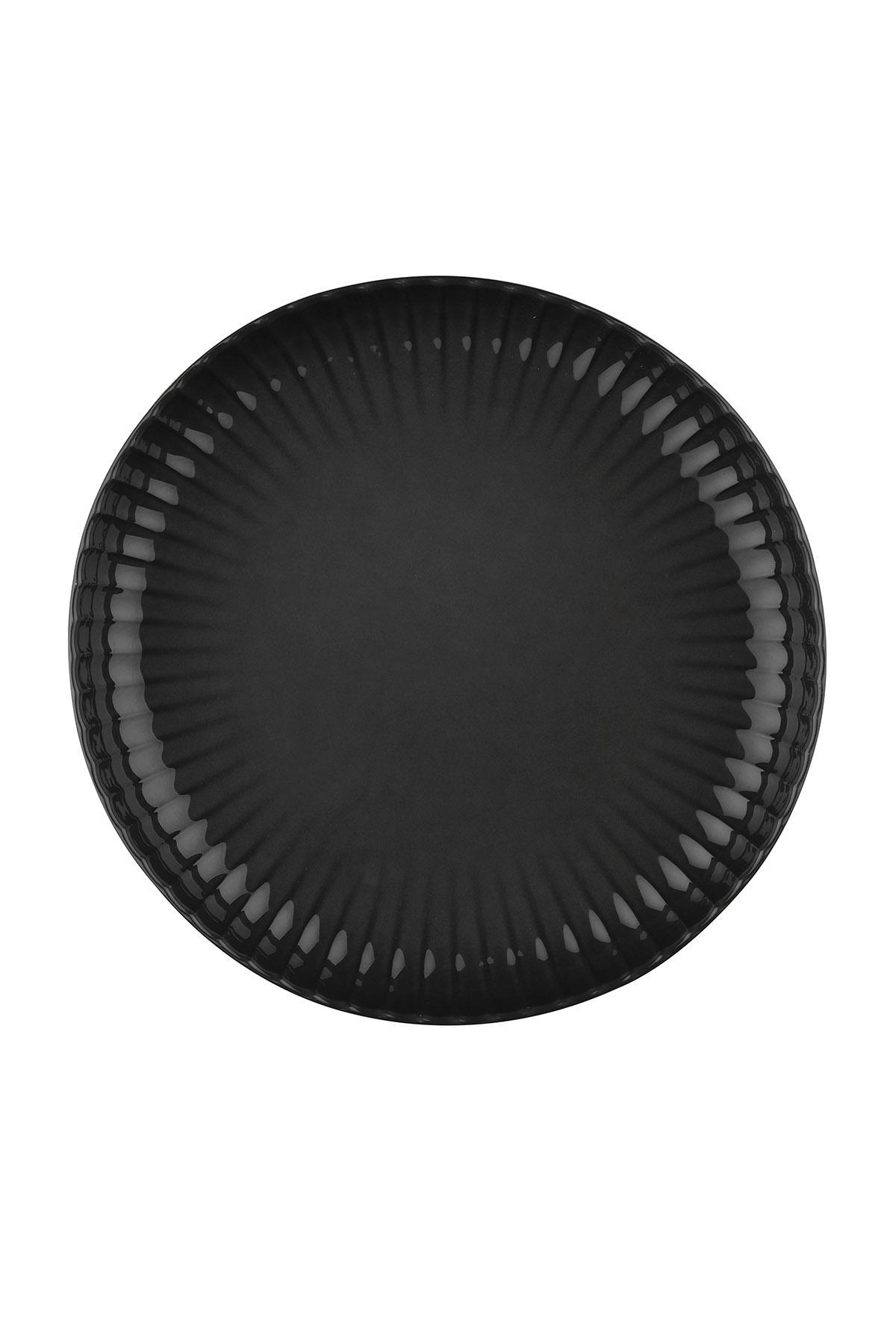 Kütahya Porselen - Crest 20 cm Çukur Tabak Siyah
