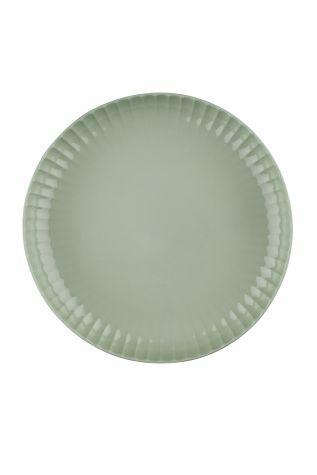 Kütahya Porselen - Crest 20 cm Çukur Tabak Yeşil