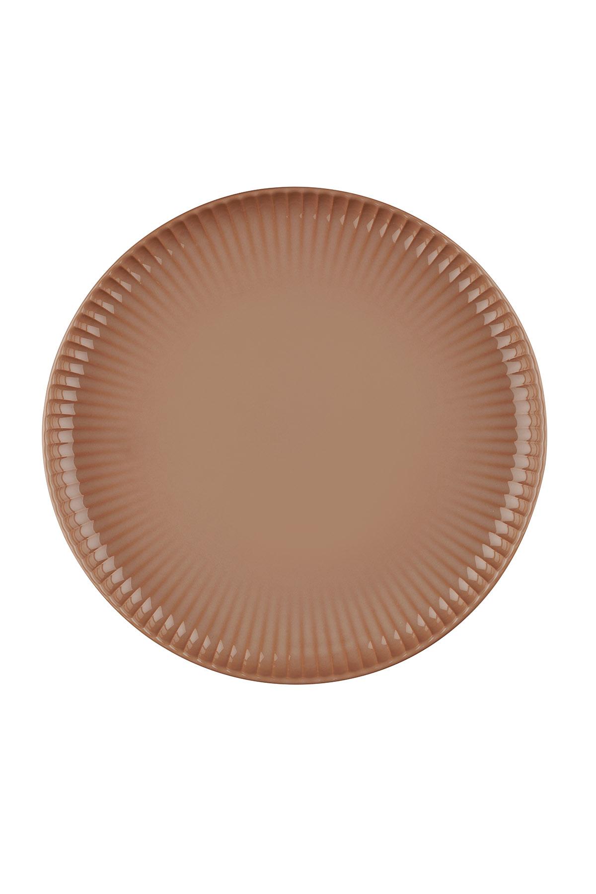 Kütahya Porselen - Crest 24 cm Düz Tabak Kırmızı