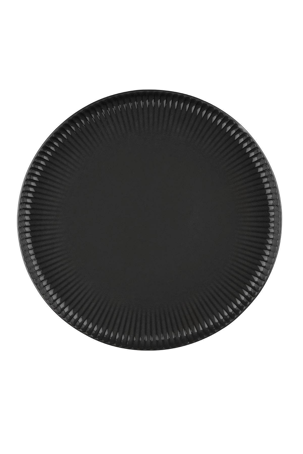 Kütahya Porselen - Crest 24 cm Düz Tabak Siyah