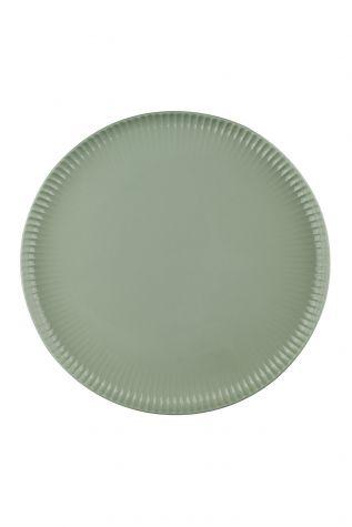Kütahya Porselen - Crest 24 cm Düz Tabak Yeşil