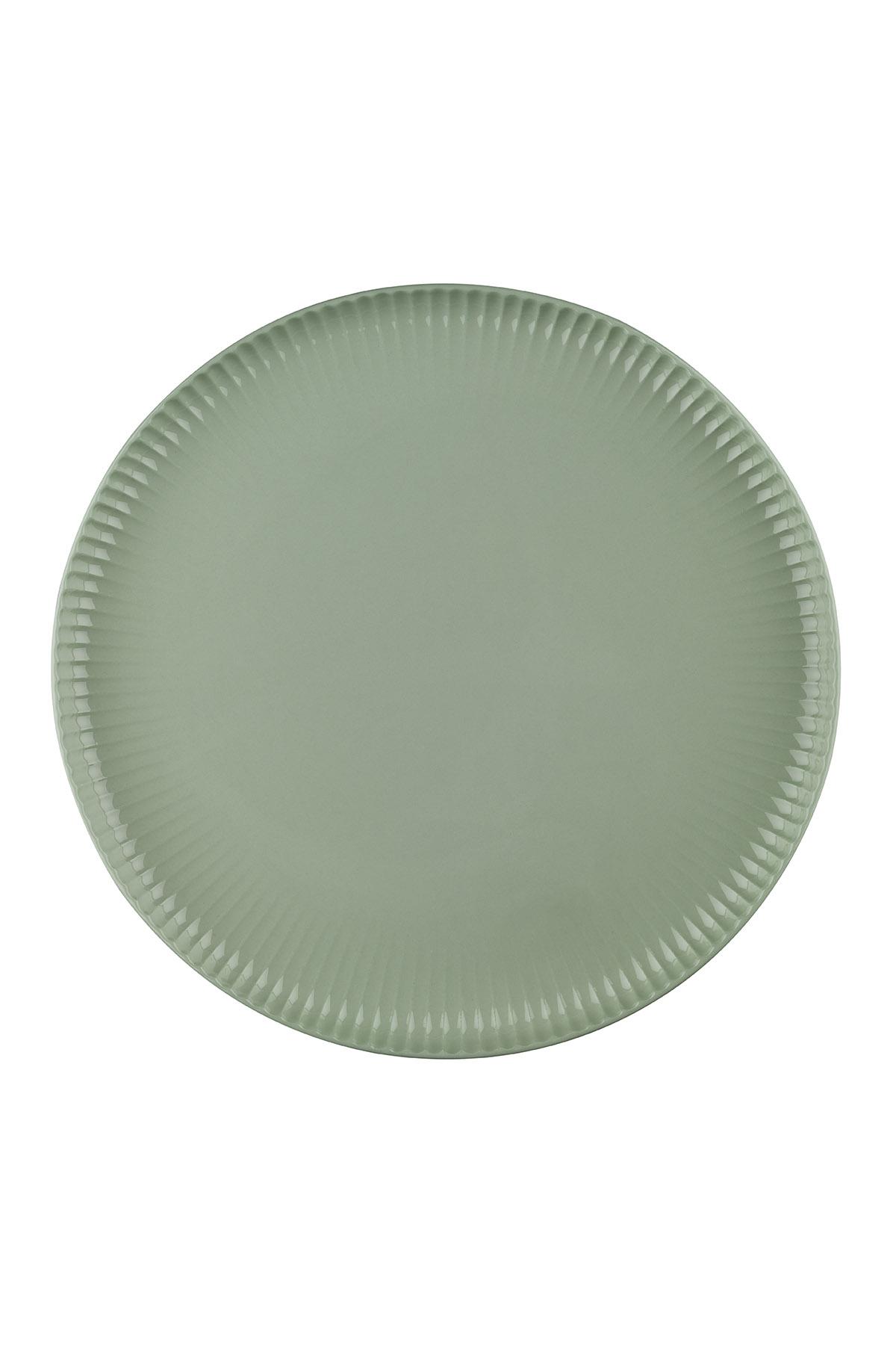 Crest 24 cm Düz Tabak Yeşil