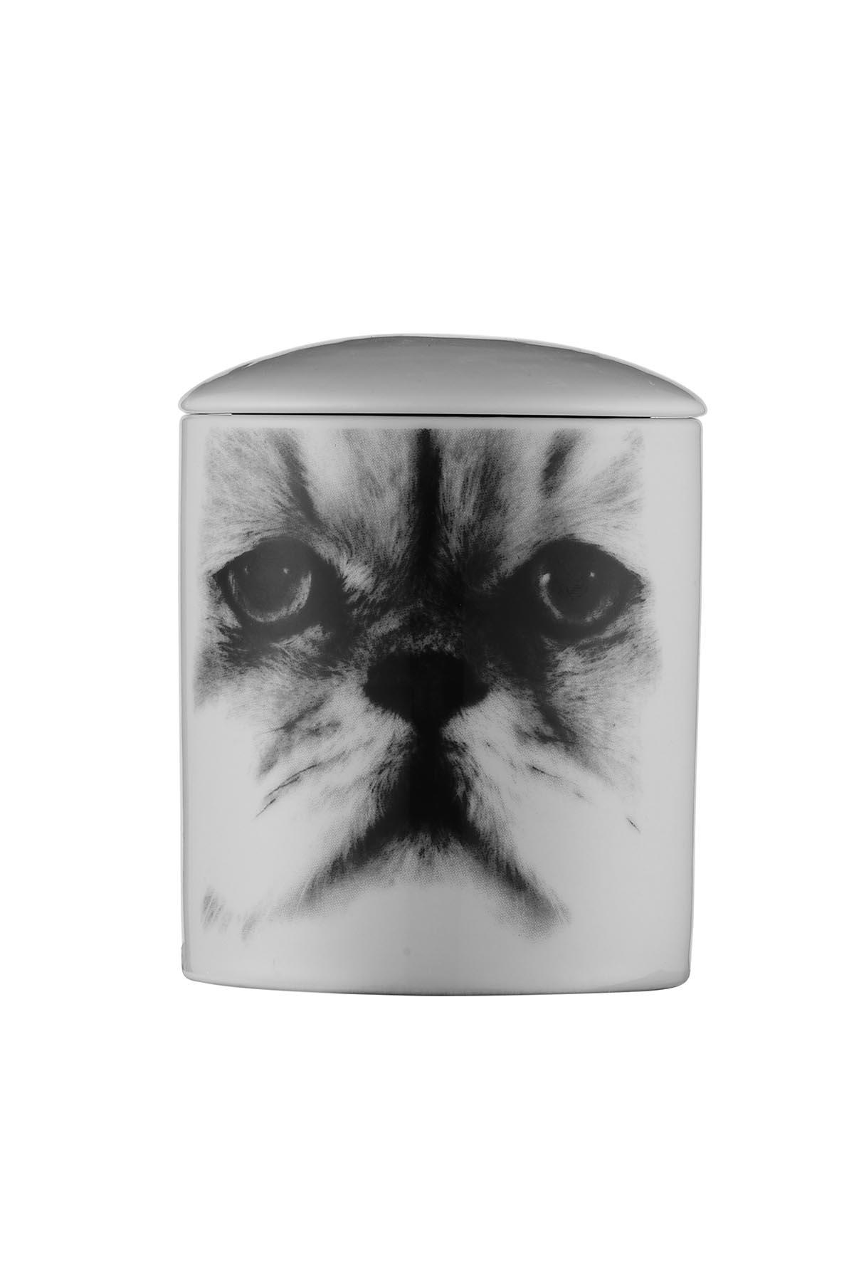 Kütahya Porselen Bardak Mum Kedi Desen