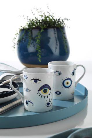 Kütahya Porselen - Kütahya Porselen Forest 2'li Mug Bardak 11013