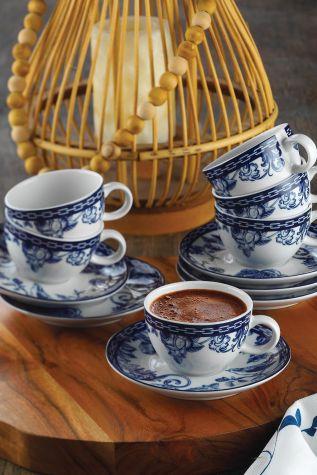 Kütahya Porselen - Kütahya Porselen Bleu Blanc Kahve Fincan Takımı 939016