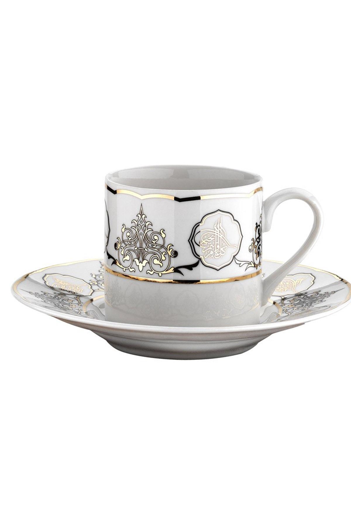 Kütahya Porselen - Kütahya Porselen Rüya 7736 Desen Kahve Fincan Takımı
