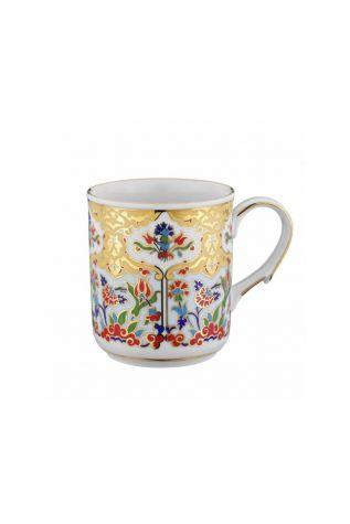 Kütahya Porselen - Kütahya Porselen Kupa Bardak Dekor No:412
