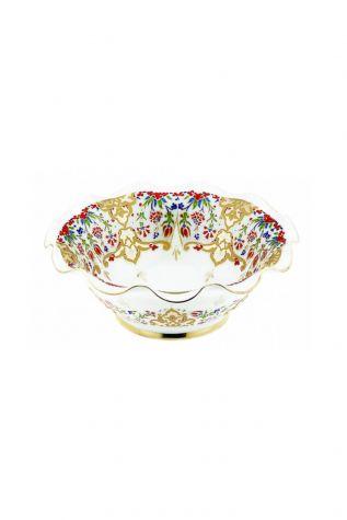 Kütahya Porselen - Kütahya Kase 20 cm Dekor No:412