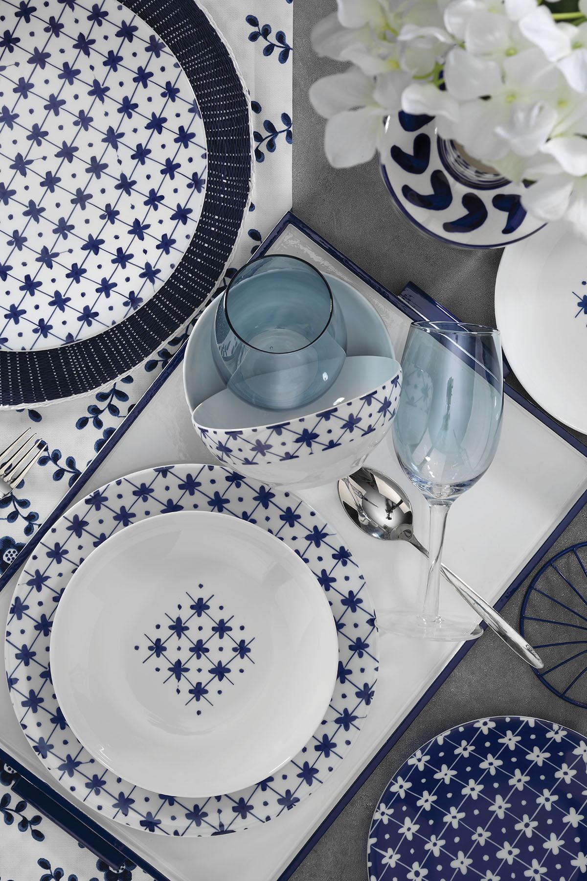 Kütahya Porselen - Kütahya Porselen 10044 Desen 24 Parça Yemek Seti