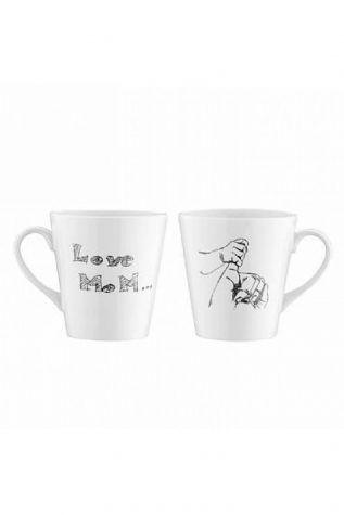 Kütahya Porselen - Kütahya Porselen 10227 Desen 2'li Mug Bardak