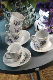 Kütahya Porselen Yasemin 10886 Desen Kahve Fincan Takımı - Thumbnail