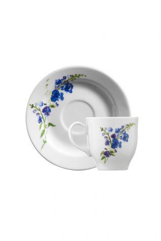 Kütahya Porselen Yasemin 10886 Desen Kahve Fincan Takımı - Thumbnail (1)