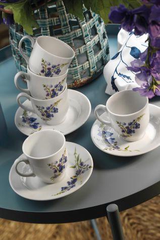 Kütahya Porselen Yasemin 10886 Desen Kahve Fincan Takımı - Thumbnail (2)