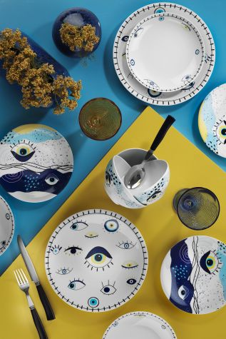 Kütahya Porselen - Kütahya Porselen 11013 Desen 24 Parça Yemek Seti