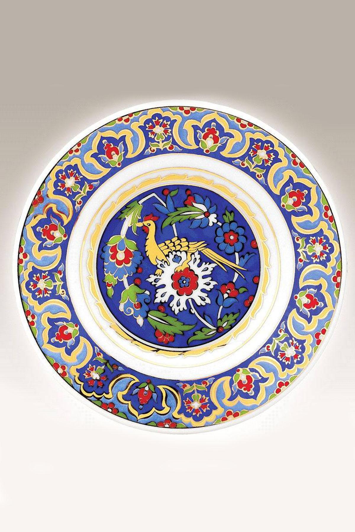 Kütahya Porselen - Kütahya Porselen 17 Cm Duvar Tabağı 3888 Mavi