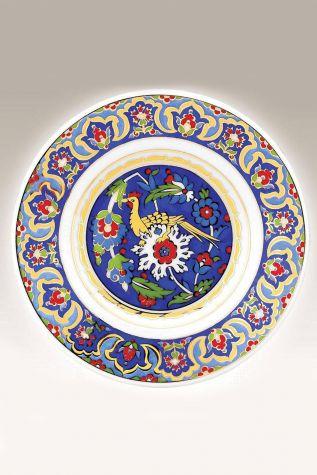 Kütahya Porselen - Duvar Tabağı 17 cm Dekor No:3888 Mavi