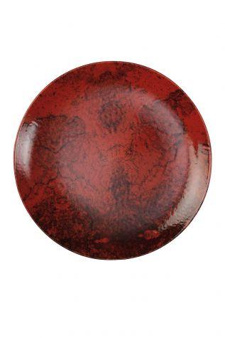 Kütahya Porselen - Kütahya Porselen 19 cm Pasta Tabağı Kırmızı