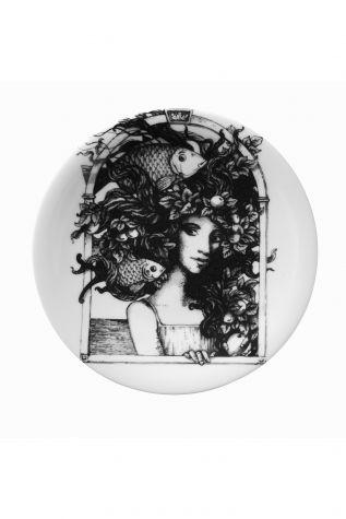 Kütahya Porselen - Kütahya Porselen Kadınlarım Serisi 21 cm Pasta Tabağı 885177