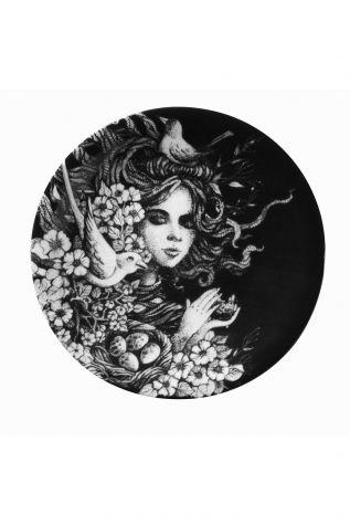 Kütahya Porselen - Kütahya Porselen Kadınlarım Serisi 21 cm Servis Tabağı 885179