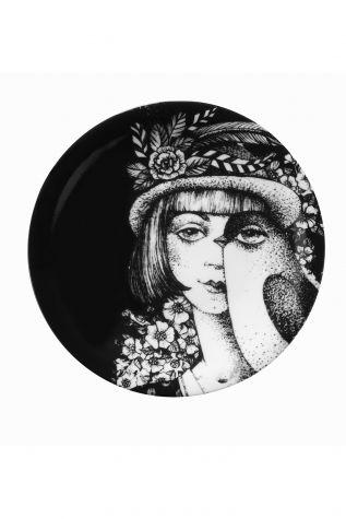 Kütahya Porselen - Kütahya Porselen Kadınlarım Serisi 21 cm Servis Tabağı 885180