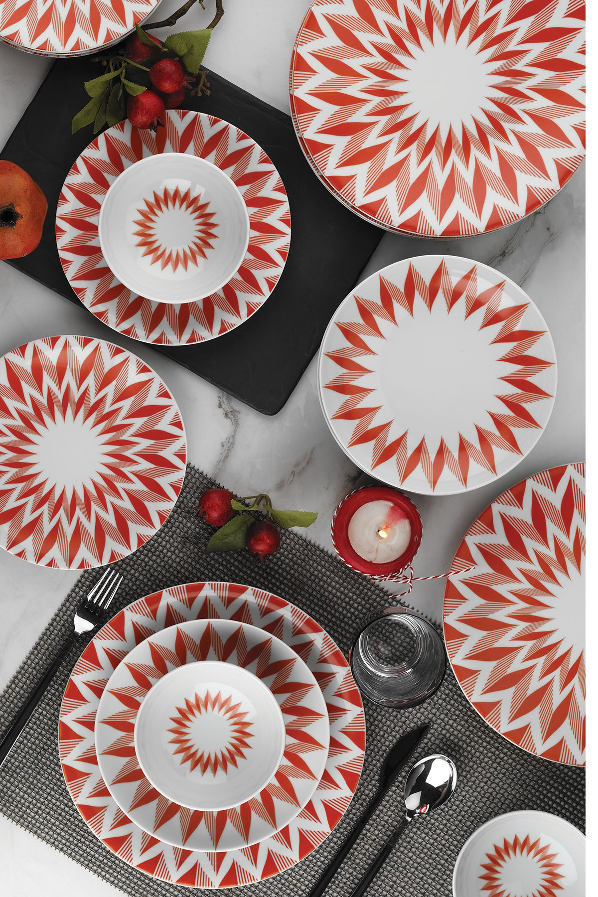 KÜTAHYA PORSELEN - Kütahya Porselen Nano 24 Parça Yemek Seti 885144