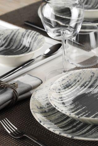 Corendon - Kütahya Porselen Nanokrem 24 Parça Yemek Seti 890056