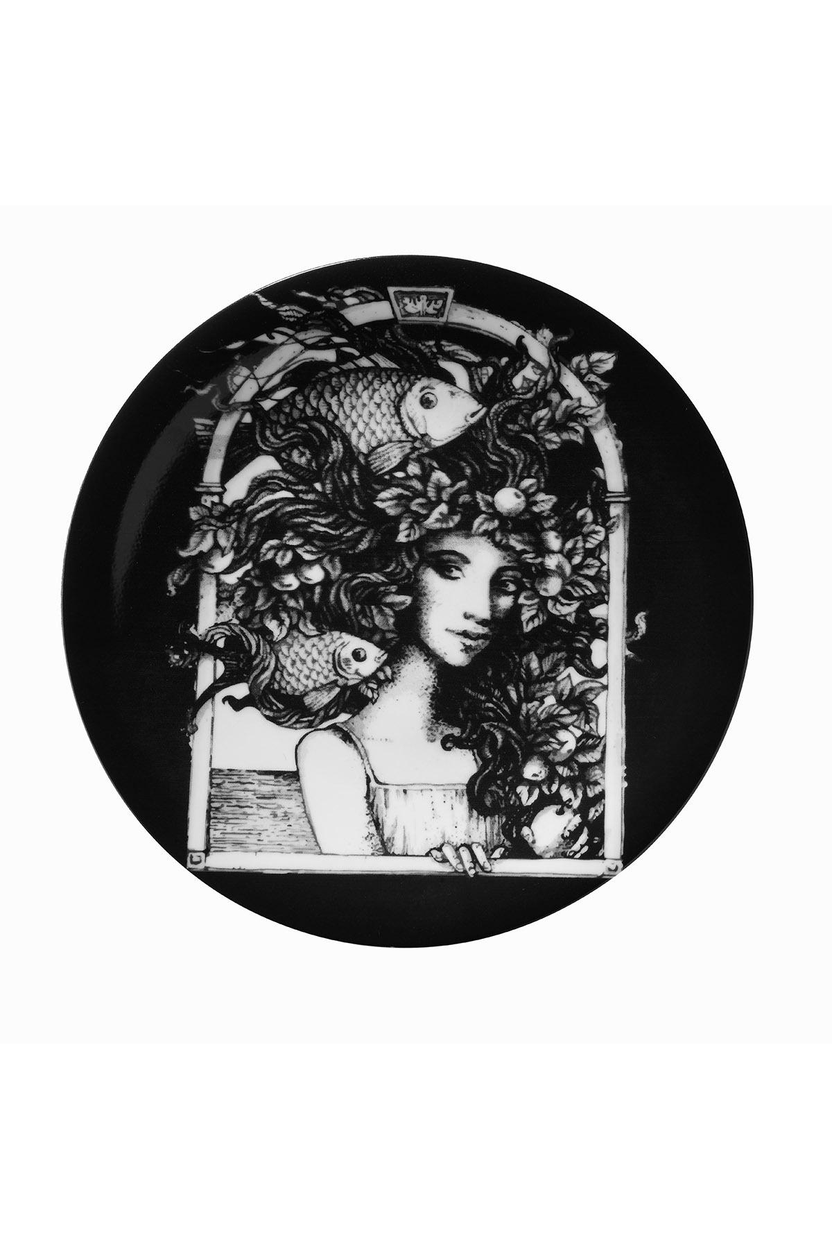 Kütahya Porselen - Kütahya Porselen Kadınlarım Serisi 25 cm Servis Tabağı 885177