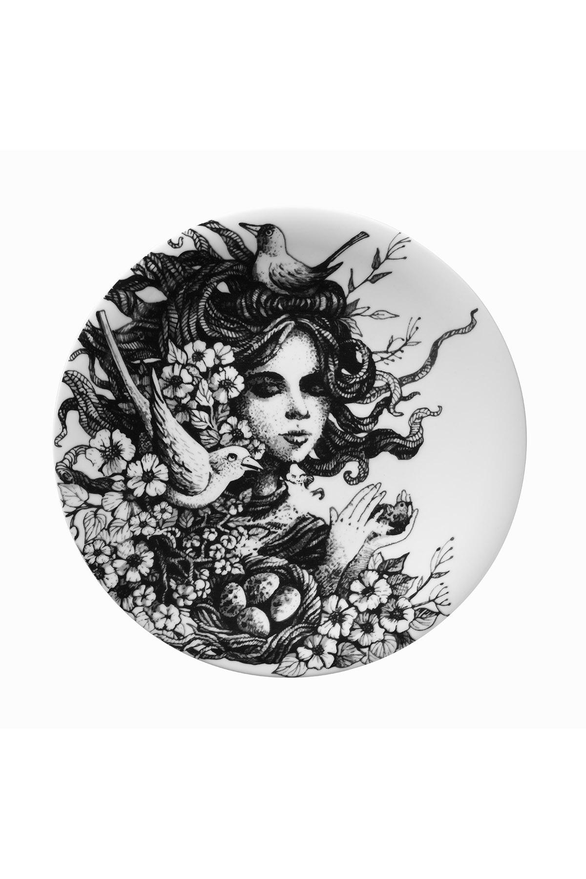 Kütahya Porselen - Kütahya Porselen Kadınlarım Serisi 25 cm Servis Tabağı 885179