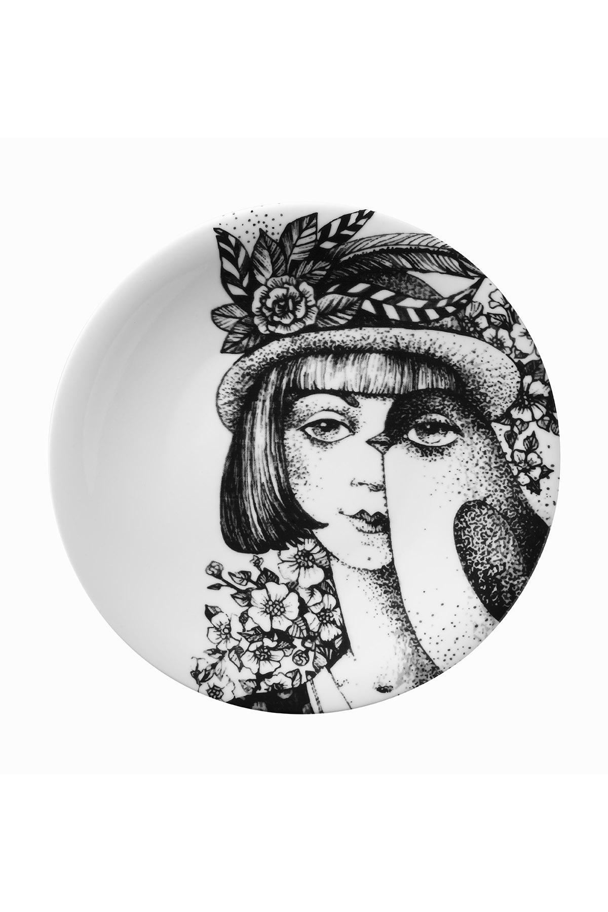 Kütahya Porselen - Kütahya Porselen Kadınlarım Serisi 25 cm Servis Tabağı 885180