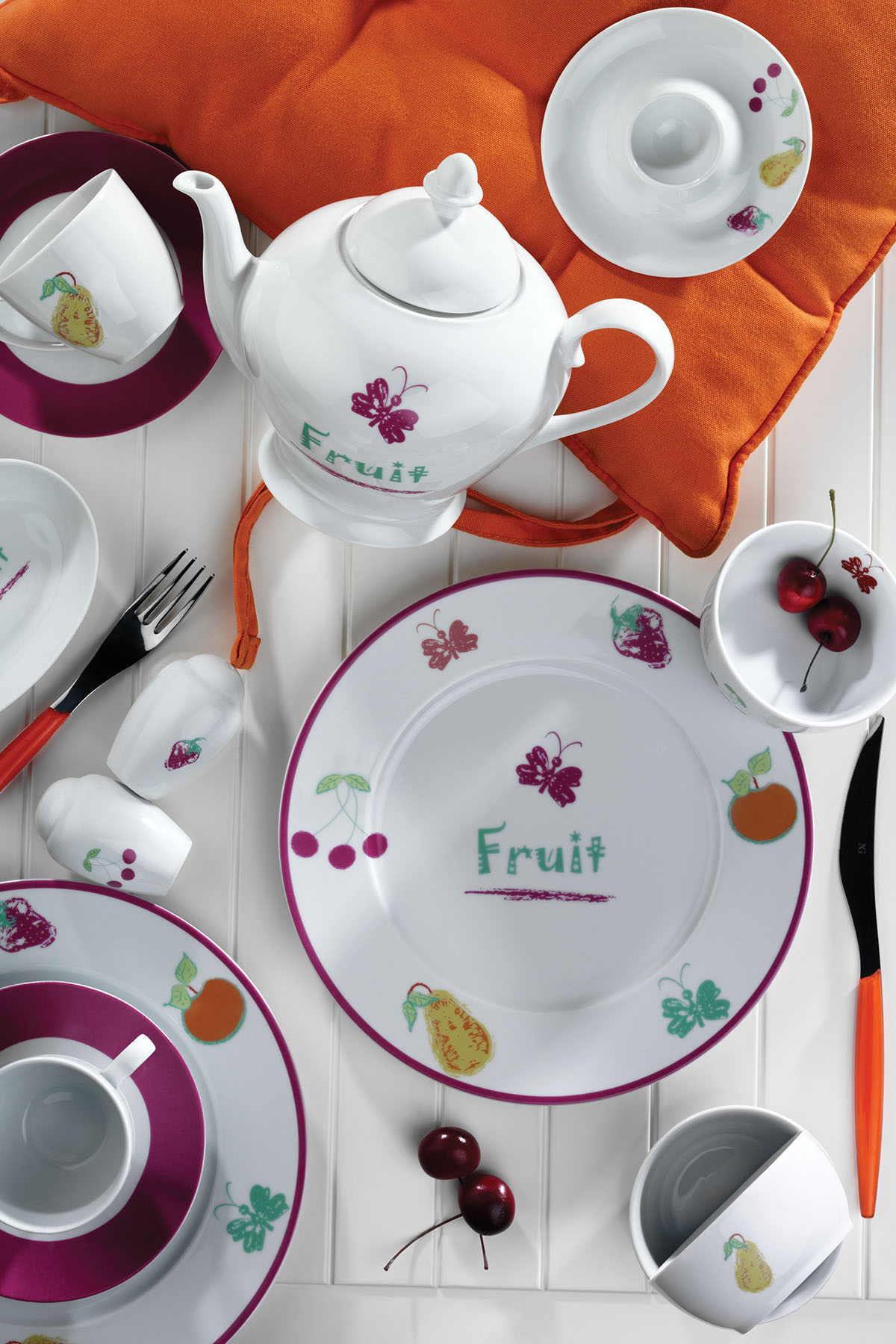 Kütahya Porselen - Kütahya Porselen 33 Parça 8002 Desen Kahvaltı Takımı