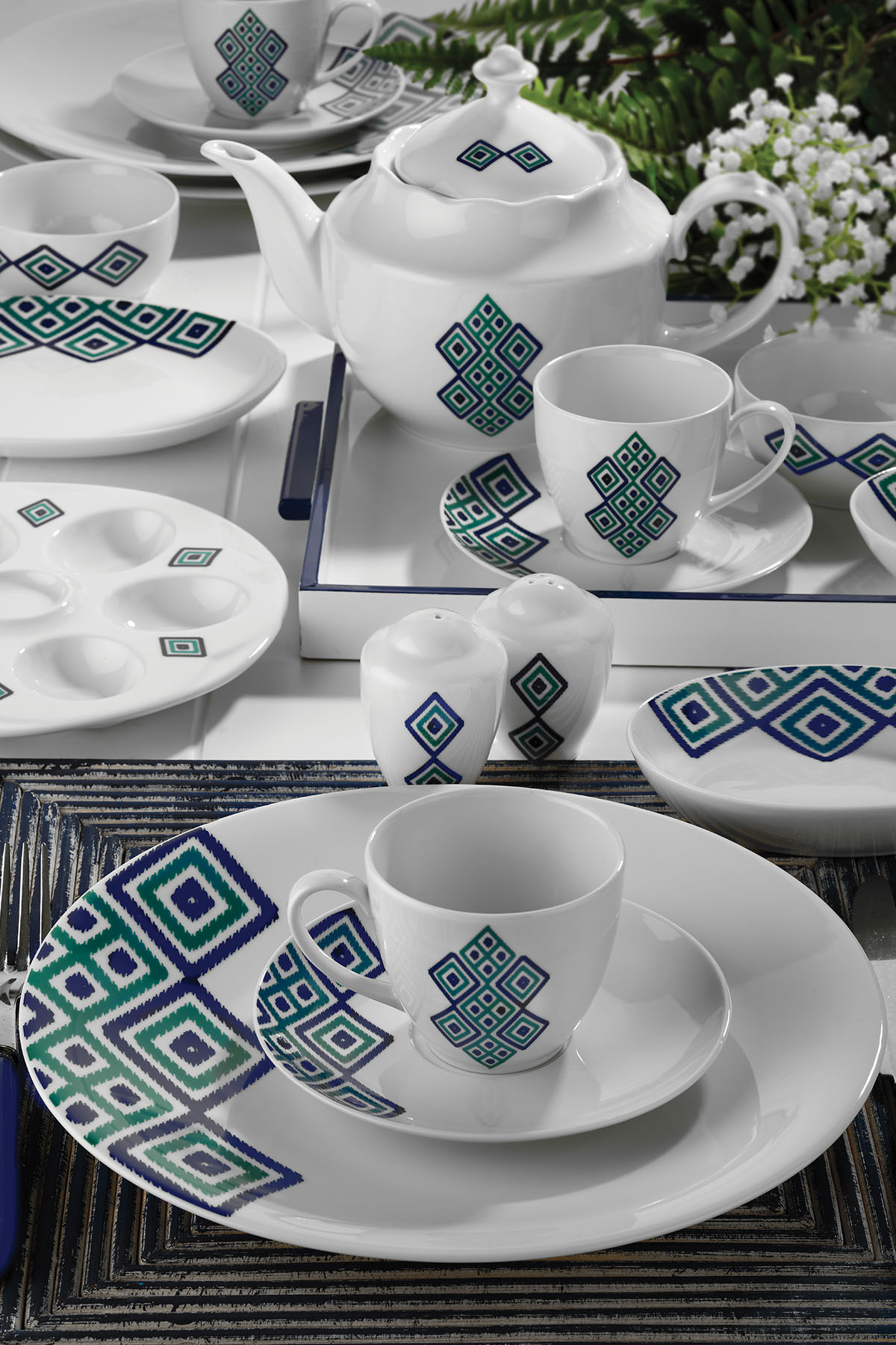 KÜTAHYA PORSELEN - Kütahya Porselen 35 Parça 10060 Desen Kahvaltı Takımı